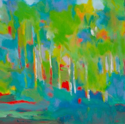 "Marshall Noice   New Aspen   Oil on Canvas   24x24""   3,100."