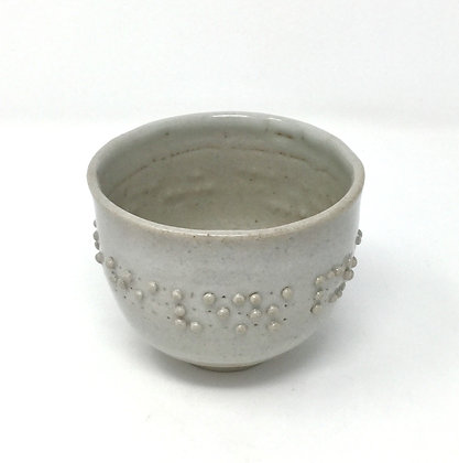 """Tea Bowl with Braille 