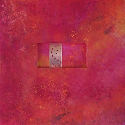 Morning Glow | Mixed Media on Cradled Niche Panel | 20x20""