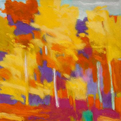 "Marshall Noice | On Lake Blaine | Oil on Canvas | 24x24"" | 3,100."
