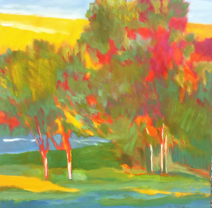 "Marshall Noice   Blue Water Shoreline   Oil on Canvas   36x36""   6,300."