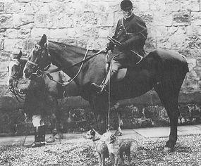 The Percy Hunt 1912 Borderterrierna heter Weddels Rap och Nailer, och de finns bakom många av dagens borderterrier