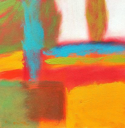 """Marshall Noice   Blue Poplar   Oil on Canvas   12x12""""   1,800."""
