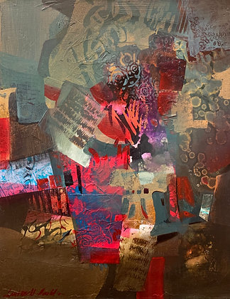 "Pat Lambrecht-Hould | Infusion | Acrylic, Mixed Media on Canvas | 20x16"""