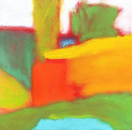 "Marshall Noice | Pond, Many Lakes | Oil on Canvas | 12x12"" | 1,800."