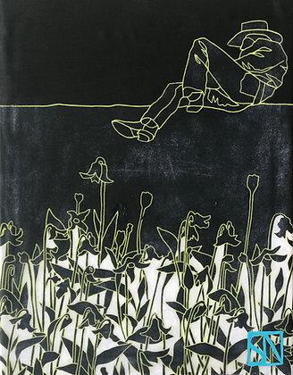 "Cowboy II | Acrylic on Canvas | 10x10"""