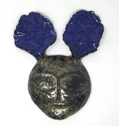 "Christopher St. John   Rabbit Mask II   Terra Cotta   16x13x4"""