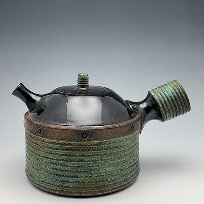 "Tim Carlburg   Steampunk Teapot   Ceramic   5""   165."
