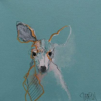 "Oh Deer Me | Acrylic on Canvas | 8x8"""