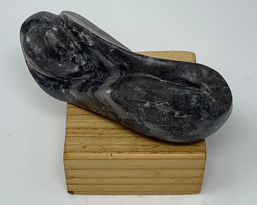 "Louise Porter-Hahn | Mountain Dream | Black Alabaster | 5x2x2.25"""