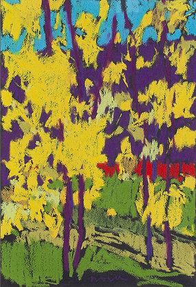 "Marshall Noice | Garcia Street, October | Pastel on Paper | 15x11"" | 1,350."