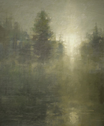 "Rachel Warner | Evergreen Twilight | Oil |10x8"""