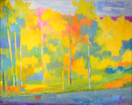 """Marshall Noice   Along the Blue Highway   Oil on Canvas   48x60""""   10,300."""