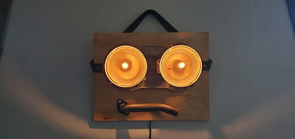 Acton Seibel | My Pragmatic Face | Found Objects on Wood | 17x13x5""