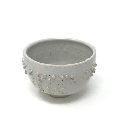 "Tea Bowl with Braille | ""I reach into"" 3 | Ceramic | 3x4"