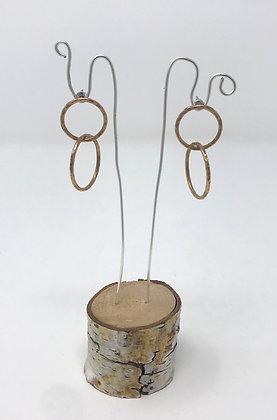Double Hoop Stud Earrings   Gold Fill, Sterling Posts   Elise Davis