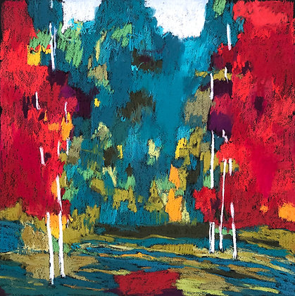 """Marshall Noice   Juniper, Red Chokecherries   Pastel on Paper   30x30""""   4,400."""