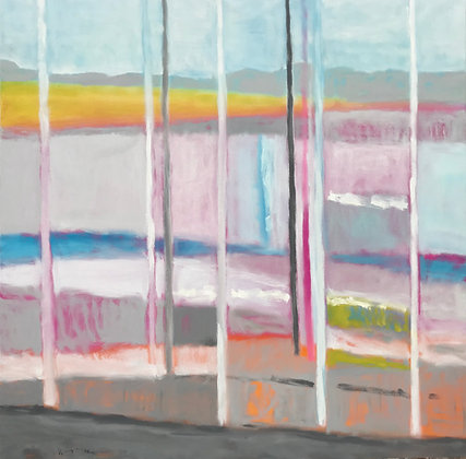 "Snow Along 160, Dove Creek | Oil on Canvas | 48x48"""