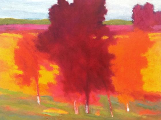 "Marshall Noice   Skagit Valley Rain   Oil on Canvas   30x40""   5,800."