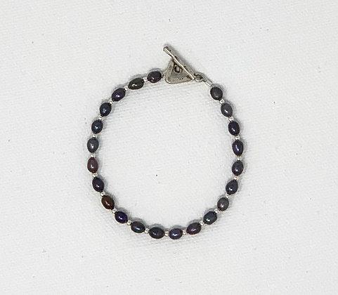 """Rachel Dragon   Purple Pearl Bracelet   6.5"""""""