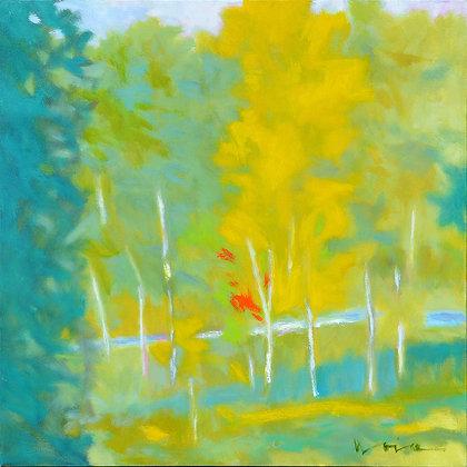 "Marshall Noice   Verdant Morning   Oil on Canvas   30x30""   4,400."