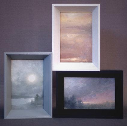 "Rachel Warner | Flathead Moon | Oil | 6x4"""