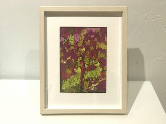 "Marshall Noice   Purple Foliage   Pastel on Paper   10.25x8.25"" framed size"