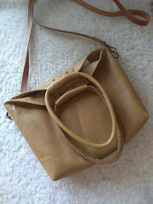 "Dorothea Bag   Soft Caramel Leather   7x9x2"""
