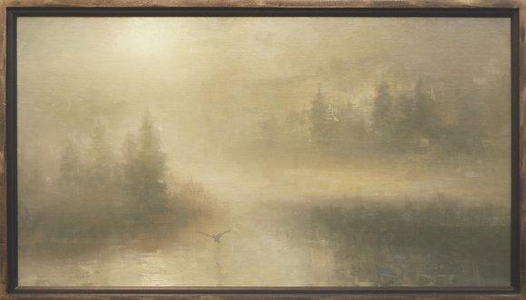 "Rachel Warner   Into the Mystique   Oil on Canvas   36x20"""