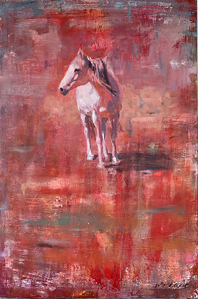 Summer Horse | Mixed Media on Canvas | 36x24