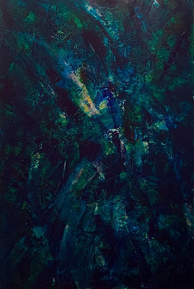 Lucia de Brito Franco | In The Night | Acrylic on Canvas | 24x36""