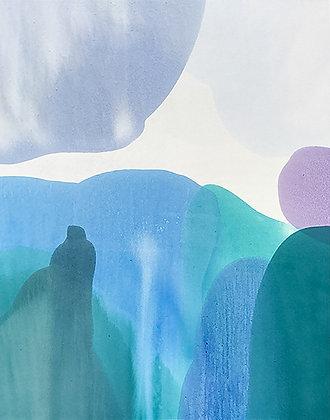 "Ron Scharfe   Waterfall   Acrylic on Canvas   60x48"""