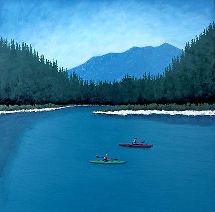 "Sam Walker   Currents   Acrylic on Wood   24x24"""