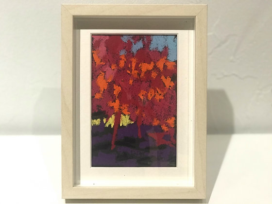 "Maple Shadows | Pastel on Paper | 7.75x5.75"" framed"