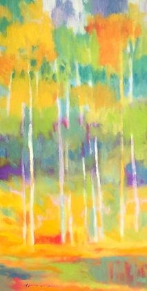 """Marshall Noice   Through the Mist   Oil on Canvas   48x24""""   5,600."""