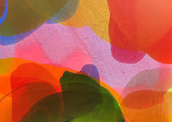 """Ron Scharfe   Layers   Acrylic on Canvas   36x48"""""""