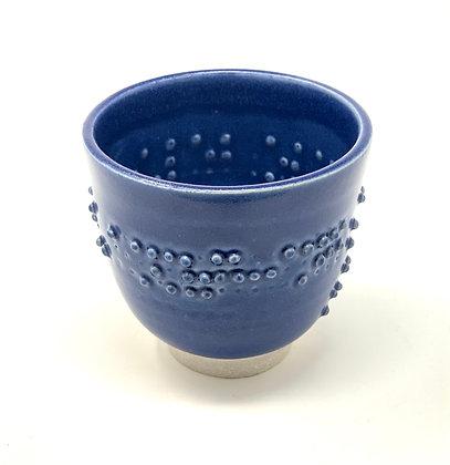 "Michelle Tanberg  Braille Tea Bowl  Ceramic  3.25x3.5"""