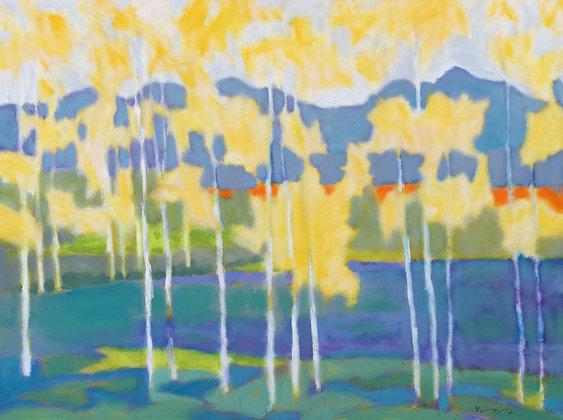 Marshall Noice | Bridger Mountains, Pond | Oil on Canvas | 36x48