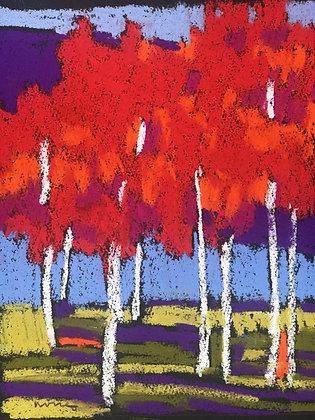 "Marshall Noice   Stillwater   Pastel on Paper   16.75x12.75"" framed size"