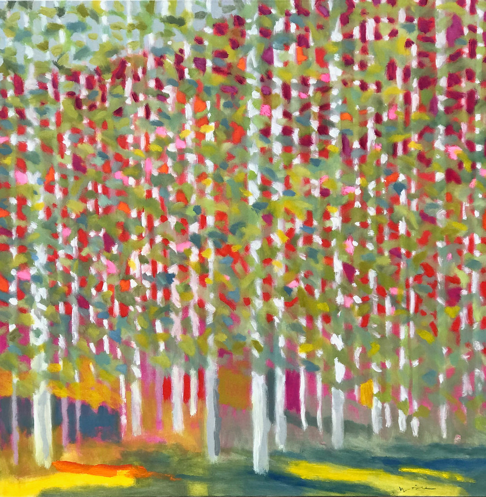 vivid landscape painting, trees