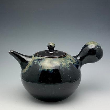 "Tim Carlburg | Black Galaxy Teapot | Ceramic | 6"""