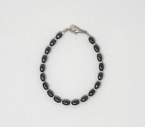 "Rachel Dragon | Hematite Bracelet | 6.5"""