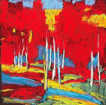 "Marshall Noice   Eleven, Echo Lake   Pastel on Paper   15x15""   1,800."