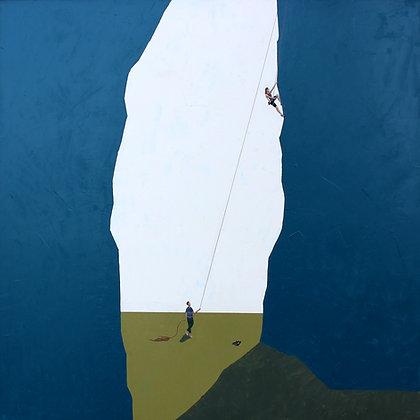 "Sam Walker | Canyon Climb | Acrylic on Wood | 36x36"""
