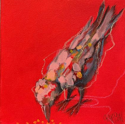 "Denny Champlin   Hunt & Peck   Acrylic on Canvas   8x8"""