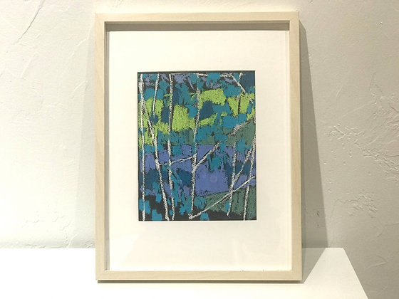 "Blue Tangles | Pastel on Paper | 16.75x12.75"" framed size"
