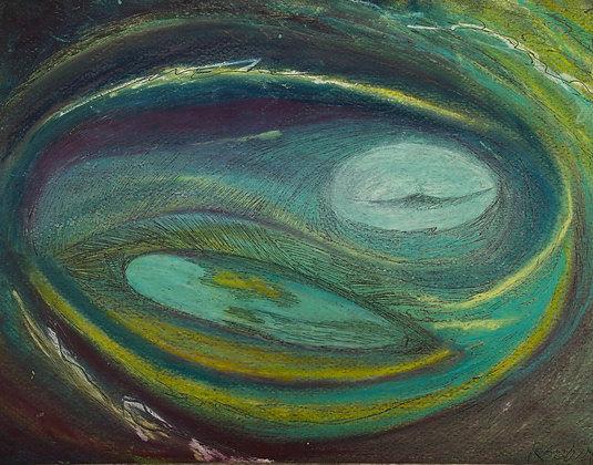 "Rebecca Sobin | On the Halfshell | Pastel | 9x11"""