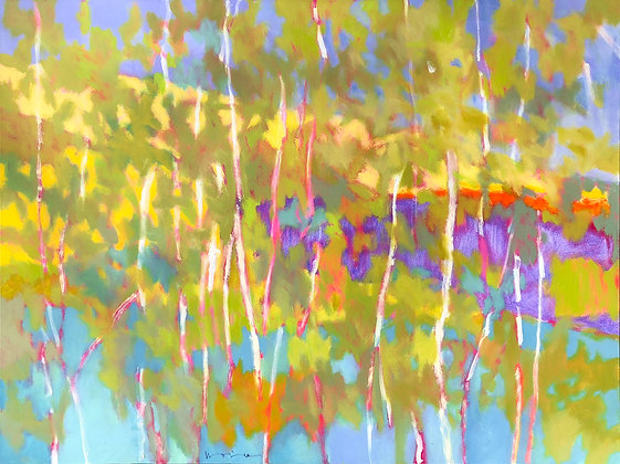 "Marshall Noice | Storm, Echo Lake | Oil on Canvas | 20x20"" | 2,500."