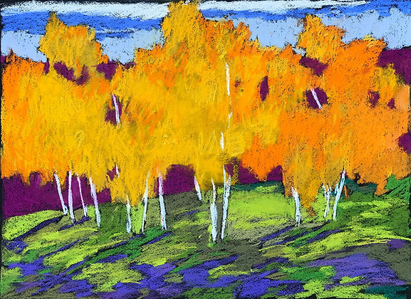 """Marshall Noice   Willow Glen View   Pastel on Paper   22x30""""   3,200."""