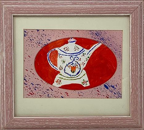 "Ken Fielder | Gramma Hegstad's Teapot | Acrylic | 9.75x8.5"" | 50."